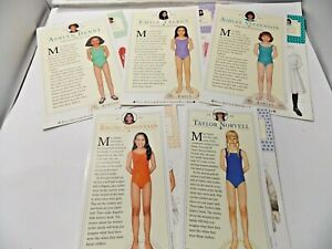5 A Real American Girl Magazine of Today 1994-96 Pop Out Paper Dolls