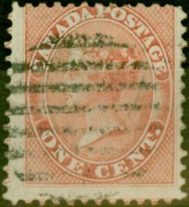 Canada 1859 1c Pale Rose SG29 Good Used