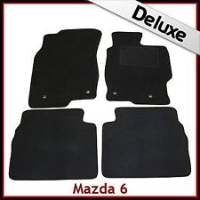 Mazda 6 Mk2 2007-2012 Tailored LUXURY 1300g Carpet Car Floor Mats BLACK