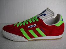 Adidas Originals Samba Super Red Suede CUSTOM Neon Green Stripes & Laces (UK 11)
