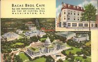 Washington, D.C. - Bacas Bros. Café - MULTIVIEW - Capitol, Supreme Ct. - Library