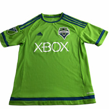 Seattle Sounders Soccer Jersey Short Sleeve Green Blue XBOX Youth Kids Lg 13-14Y