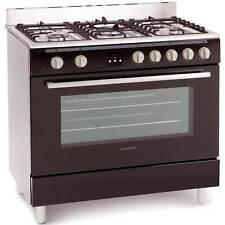 Montpellier MR90DFMK Single Cavity 5 Burners Duel Fuel Range Cooker in Black
