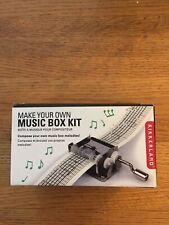 Kikkerland Make Your Own Music Box KIT: Music Box,3 Melody Strips, Hole Punch