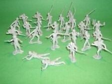 Marx Recast 25 Pc 54mm Confederate Infantry Grey Plastic Soldiers Set NEW!