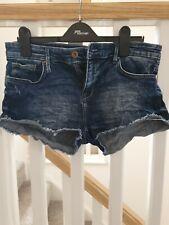 Raw Hem Denim Shorts H&M Size 12