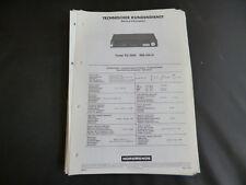 Original Service Manual Nordmende TU 1006
