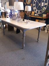 Zinc Faux Top Dining Table with Painted Base and Legs office study table.