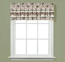"""PINECONE PLAID Unlined Window Valance by Saturday Knight 58""""Wx13""""L"""