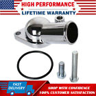 Chrome Water Neck Thermostat Housing Outlet 45 Degree For Chevy 350-454 SBC BBC  for sale
