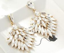 Drop Dangle Stud long Earrings 46 1pair Wholesale White Crystal Rhinestone Ear