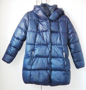 BNWOT GIRLS NEXT HOODED WINTER COAT 11 YRS 10-11 NEW SCHOOL JACKET TOP RAIN BLUE