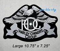 Large Silver Heritage Eagle Patch ~ Harley Davidson Owners Group HOG  H.O.G.