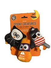 Fringe | Owl-O-Ween Set Of 3  | Squeaky Plush Dog Toy