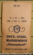 "Vintage NOS PM ONYX-STEEL Watch Mainspring 5 X 10 X 9 1/2"" Metric 140X011X24.50"