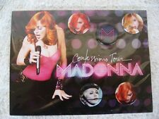 MADONNA...CONFESSIONS TOUR...OFFICIAL...PINS / BUTTONS...NEW on CARD