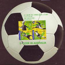 AUSTRALIA 2006 FOOTBALL SOCCER IN AUSTRALIA PARIS OVERPRINT UNMOUNTED MINT, MNH