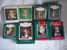 HALLMARK Porcelin Cinnamon Bear Series Set 1 - 8 BV$338