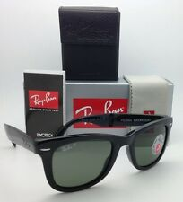 Polarized RAY-BAN Sunglasses FOLDING WAYFARER RB 4105 601/58 50-22 Black w/Green