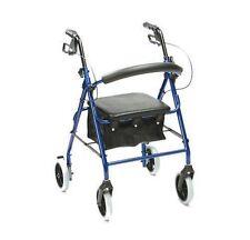 Drive Medical Lightweight Aluminium Blue 4 Wheel Rollator Underseat Bag R6BL-23