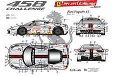 [FFSMC Productions] Decals 1/24 Ferrari F-458 Challenge Alex Popow (season 2012)