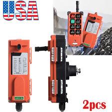 2x Transmitter & 1 Receiver Hoist Crane Radio Industrial Wireless Remote Control