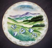 "Vintage South Dakota's State Flower Collectors Plate- 10.25""D"