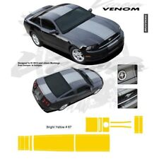 Ford Mustang 2013 up Center Stripes Graphic Kit - Bright Yellow