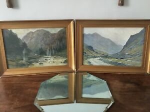 Pair of Decorative Scenic Prints of North Wales: Snowdon & Aberglaslyn Pass