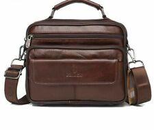Men Bags Genuine Leather Top Handle Male Shoulder Messenger Flap Casual Handbags