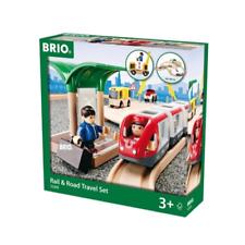 BRIO 33209 Rail & Road Travel Set 33pc New