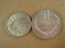 2 Prewar Period Silver Coins Latvia 1 Lats 1924 & Lietuva 1 Litas 1925   * 928