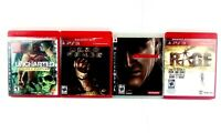 Lot of 4 Playstation 3 Games Metal Gear Solid 4 Dead Space,Rage,Uncharted PS3