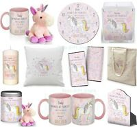 PERSONALISED Pretty UNICORN Pink Gifts Present for Her BIRTHDAY Christmas Gift