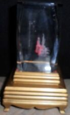 Hologram Cube Coyote Cactus Crystal Glass Figurine Colored Light Paper Weight
