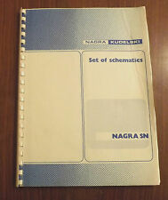 NAGRA KUDELSKI SN OFFICIAL MANUAL SET OF SCHEMATICS  CIRCUITS DETAIL PRESENTATIO