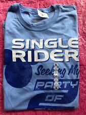 Disney Parks Exclusive Single Rider Seeking My Party Of Two T-Shirt Adult L New