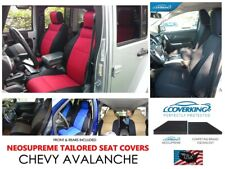 Chevy Avalanche Coverking Custom Tailored Front & Rear Neosupreme Seat Covers