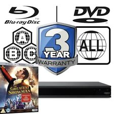 Sony UBP-X800 All Zone Code Free MultiRegion 4K Player with The Greatest Showman