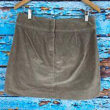 Banana Republic Womens Skirt Brown Soft Corduroy 4