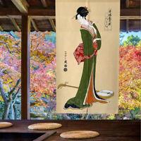 NOREN Pub Door Curtain Japanese Music Troupe Geisha Doorway Divider Tapestry NEW