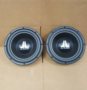 "2 JL Audio 10W0-12  10"" 12ohm Subwoofers with Grilles and NEW Foam Surrounds"