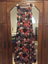 TORI RICHARD Vintage Hawaiian Maxi Dress Watteau Back Womens Sz 8 100% Polyester