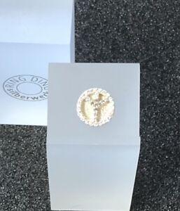 Original RingDing Silberwerk Top Peace Pavé 925er Sterlingsilber