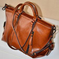 1 x Stylish Handbag Lady Shoulder Bag Tote Purse Oiled Leather Women Messenge