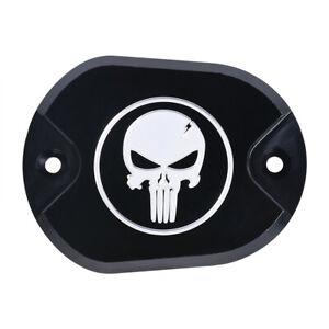 Skull Brake Master Cylinder Cover Reservoir Cap For Harley Sportster XL 883 1200
