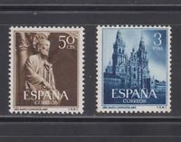 1954 - SERIE EDIFIL 1130/31 COMPLETA NUEVO MNH ESPAÑA SIN FIJASELLOS