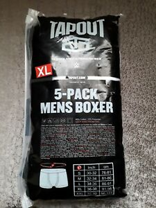 TapouT Mens XL Boxer Shorts Underwear 5Pack High Quality Elasticated UFC WWE NEW