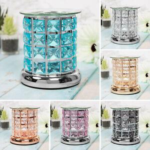 Glass Crystal Wax Melt Warmer Diffuser Essential Oil Burner Tealight Holder Lamp