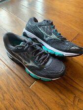 New Womens Gray And Teal Mizuno Wave Creation 19 Running Shoe - Size 8 Medium